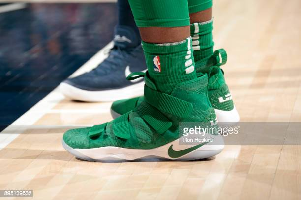 Sneakers of Semi Ojeleye during the game against the Indiana Pacers on December 18 2017 at Bankers Life Fieldhouse in Indianapolis Indiana NOTE TO...