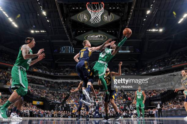 Terry Rozier of the Boston Celtics handles the ball against the Indiana Pacers on December 18 2017 at Bankers Life Fieldhouse in Indianapolis Indiana...