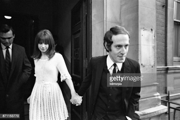18yearold Jane Birkin currently starring in the lead role of 'Passion Flower Hotel' marries in secret at Chelsea Registry Office London to John Barry...