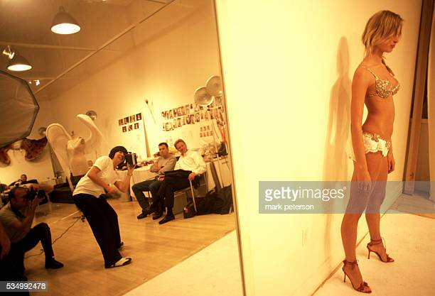 18yearold top model Karolina Kurkova getting fitted for the 8th Annual Victoria's Secret Fashion Show Photo by Mark Peterson/Corbis SABA