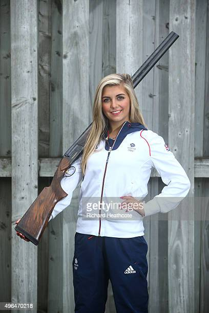 18yr old Amber Hill poses for a portrait as she is selected for the Team GB Shooting Team for Rio 2016 Olympic Games at the EJChurchill Shooting...