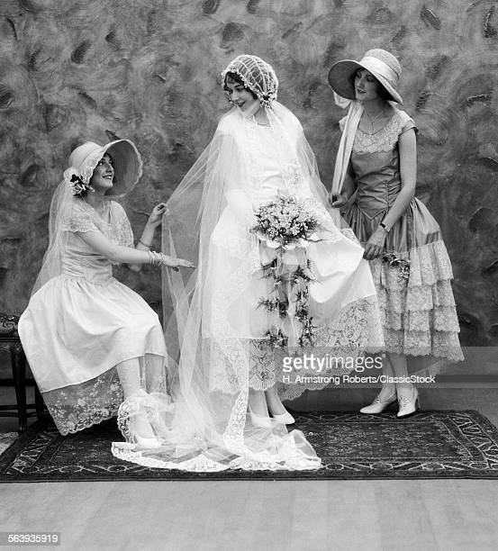 1900s 1910s BRIDE WITH ONE...