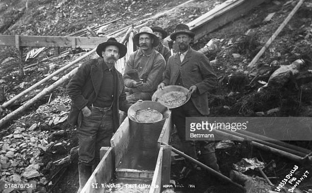 1901St Kincaid Alaska Alaska gold rush Photograph taken ca 1901 at St Kincaid First clean up at Adam Hill BPA2# 2213