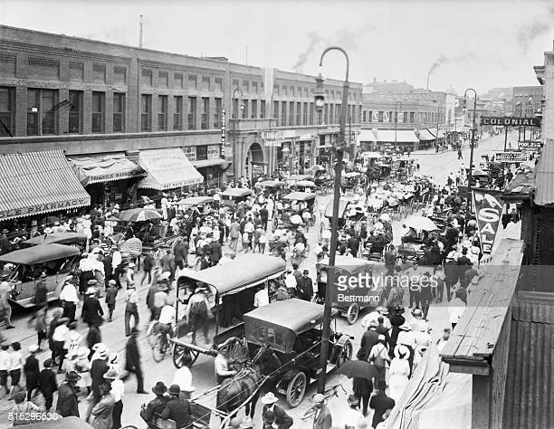 Pueblo, CO: Union Avenue. Main Street of Pueblo, CO, photograph ca. 1910.
