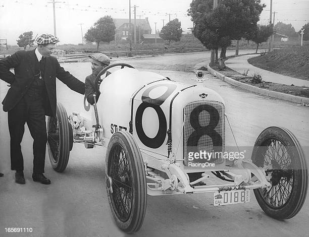 Earl Cooper of Broken Bow NE raced for the Stutz factory team at the Santa Monica Road Race Course in 1914 1916 and 1919 Cooper was the American...