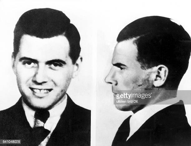 Mediziner, D, 'Nazi - Arzt'Porträts, frontal und im Profil, in jungen Jahren