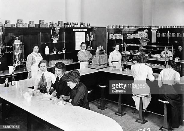 Soda fountain of Rike's Department store Dayton Ohio Photograph 1912