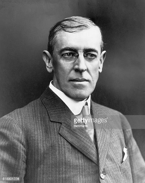 Woodrow Wilson: Head and shoulders formal portrait.