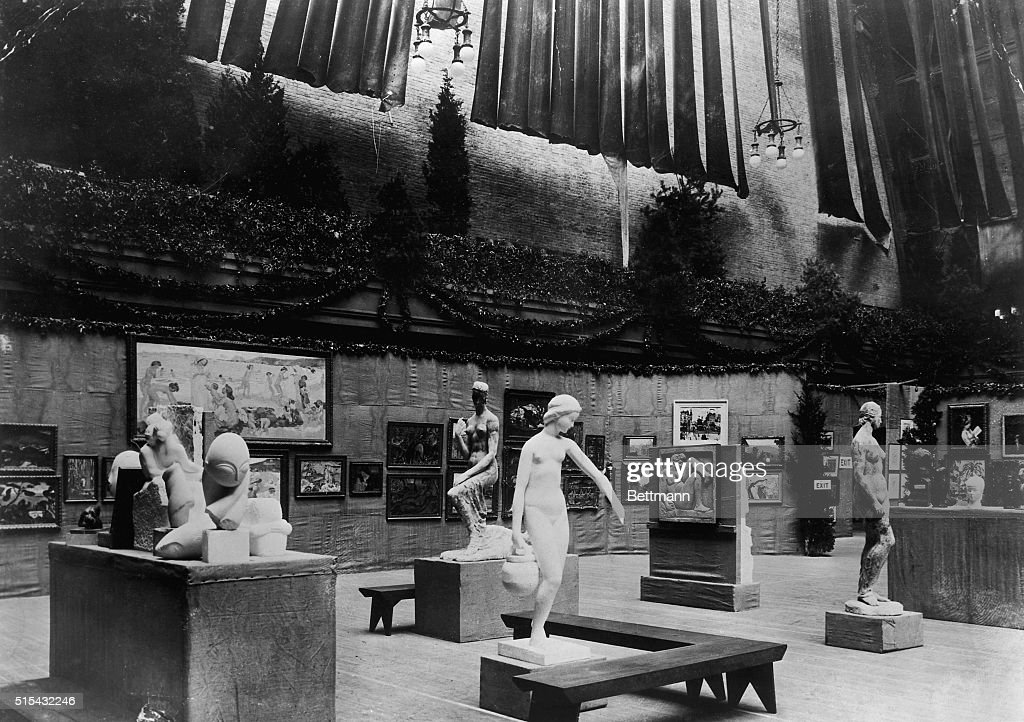 Photograph Showing the Armory Art Show in New York in 1913 : News Photo