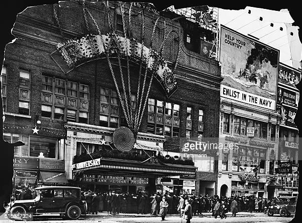 New York New YorkORIGINAL CAPTION READS Picture shows the exterior of the Rialto Theatre on Broadway