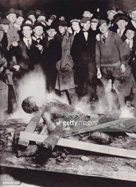 Photograph showing the body of Will Brown after being burned by a white crowd. The Omaha Race Riot occurred in Omaha, Nebraska, on September 28 29,...