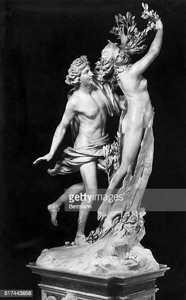 1919Rome Italy'Apollo and Daphne' sculpted by Giovanni Lorenzo Bernini Italian Baroque painter architect and sculptor The sculpture was completed...