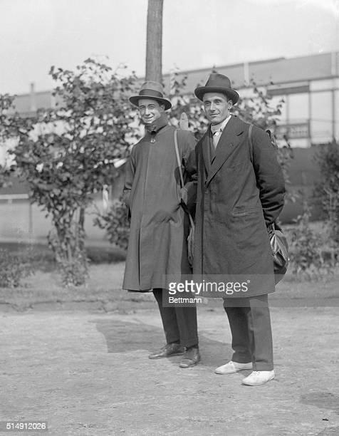 1920Antwerp Belgium Aldo Nadi and Nedo Nadi Italian champion fencers of the world are shown at the 1920 Olympics in Belgium Filed 9/18/1920
