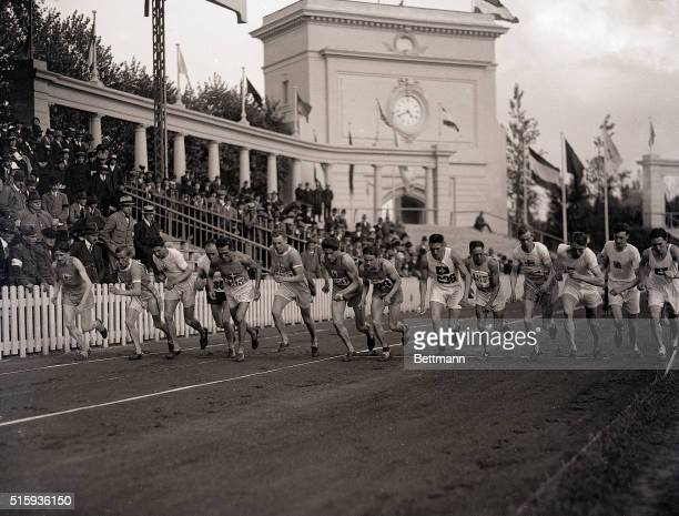 1920Antwerp Belgium Picture shows the start of the 10000meter race during the Olympics