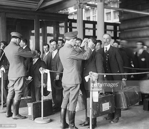 1920New York NYEllis Island Inspection of health and processing immigrants