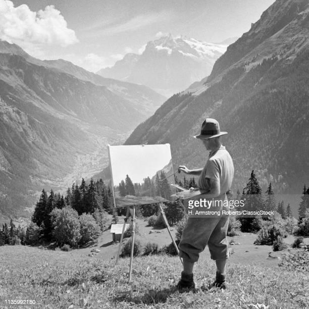1920s 1930s ARTIST WORKING...