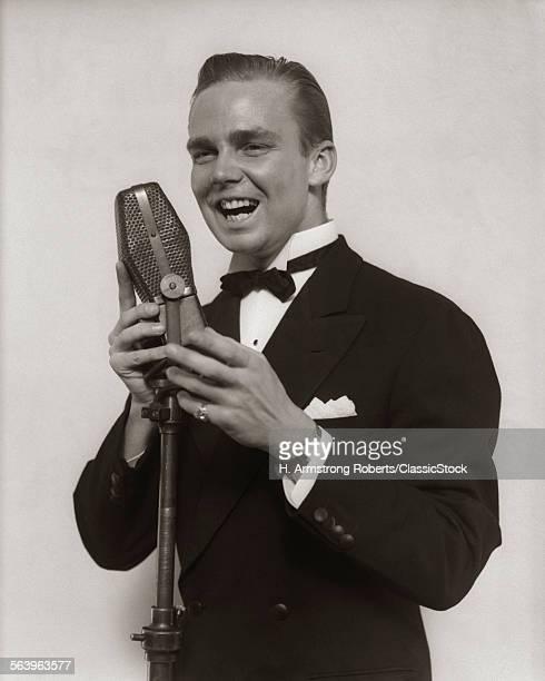 1920s 1930s SMILING MAN...
