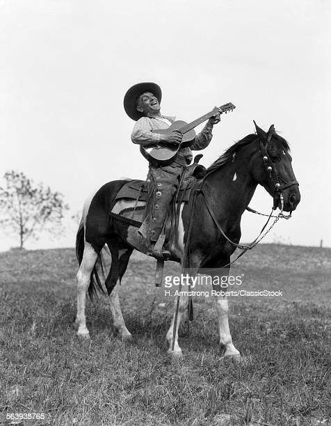 1920s COWBOY ON HORSE...