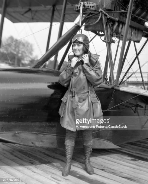 1920s FEMALE AVIATOR...