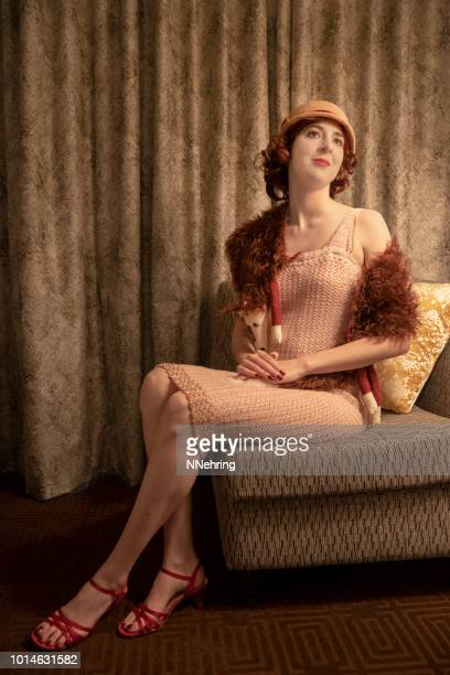 1920s flapper - flapper stock photos and pictures