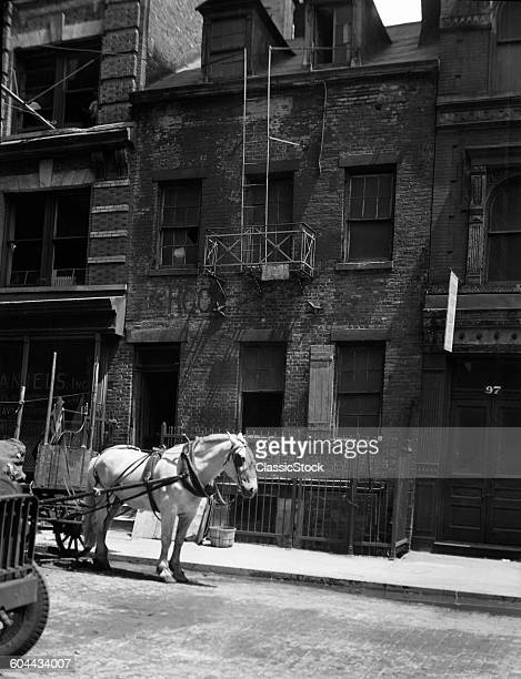 1920s HORSE & WAGON IN.