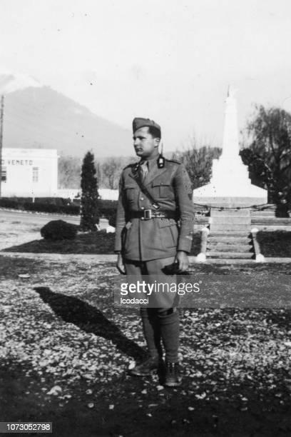 1920 年代のイタリアの兵士の肖像画