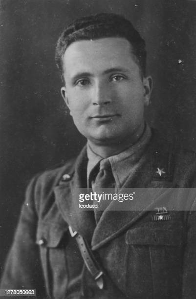 1920s italian soldier portrait - officer military rank stock pictures, royalty-free photos & images