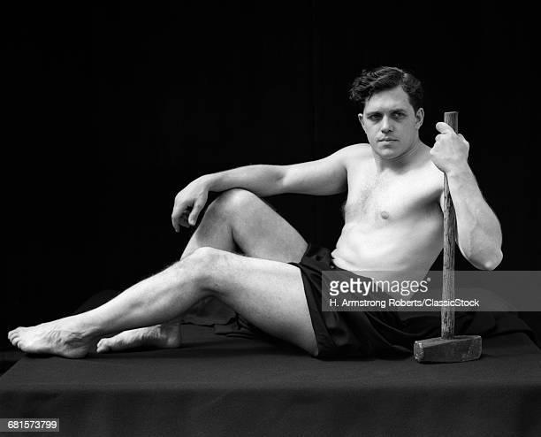 1920s MAN SEMI NUDE...