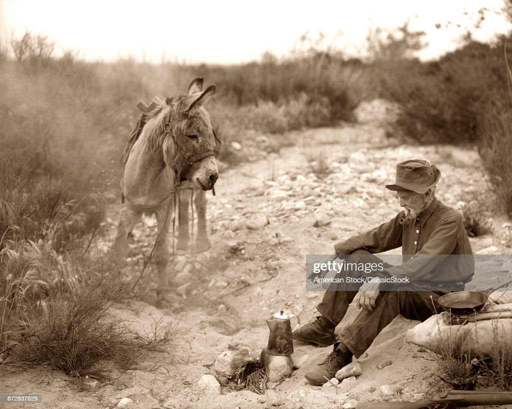 1920s Old Prospector Stock Photo Getty Images