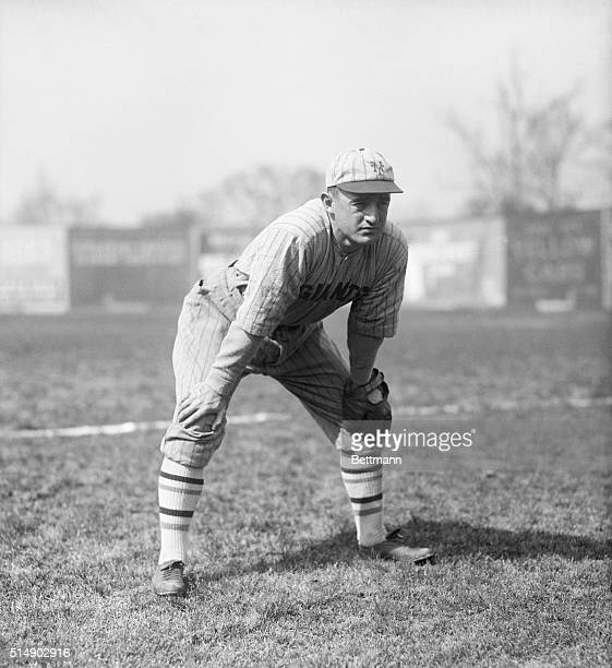 Frankie Frisch of the New York Giants is shown fielding.
