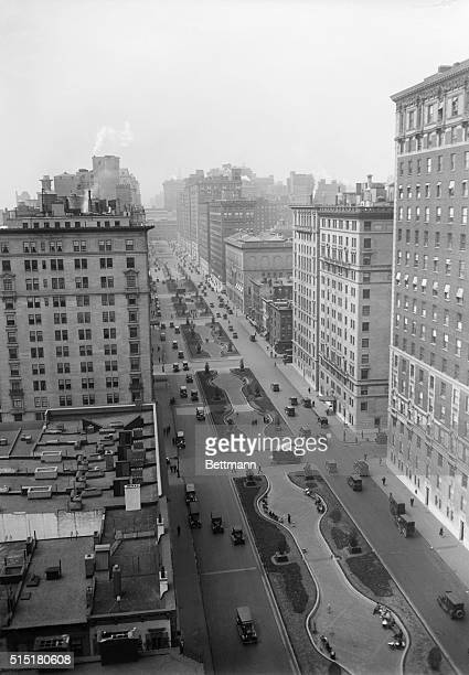 Aerial view of Park Avenue looking down from 47th Street.
