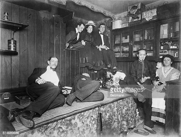 New York, NY: Chinatown opium den.
