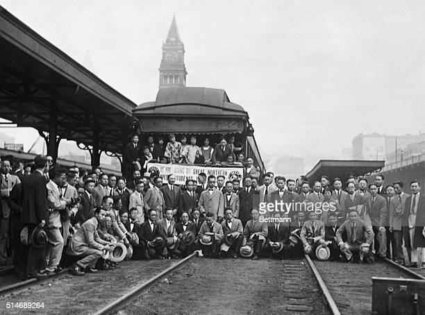 1925Seattle Washington Group of 150 Chinese students arrive in Seattle