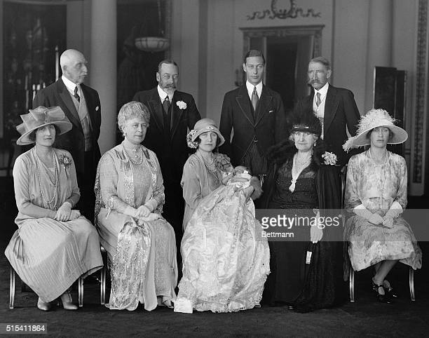 1926London England The Royal Party at Buckingham Palace for the christening of Princess Elizabeth