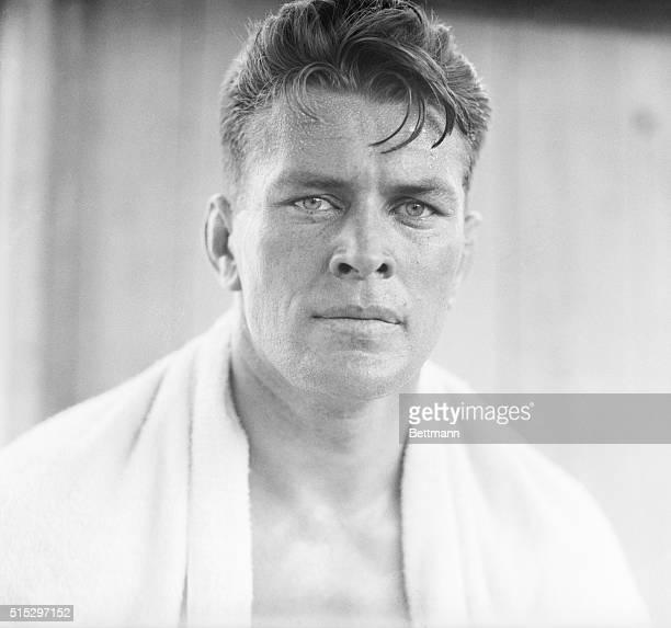 Summitt, NJ: Closeup of Gene Tunney during his training for Jack Dempsey at Summitt, NJ, 1926.
