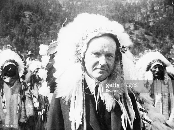 1927Calvin Coolidge named Chief Leading Eagle by the Sioux 1927 BPA2# 2387