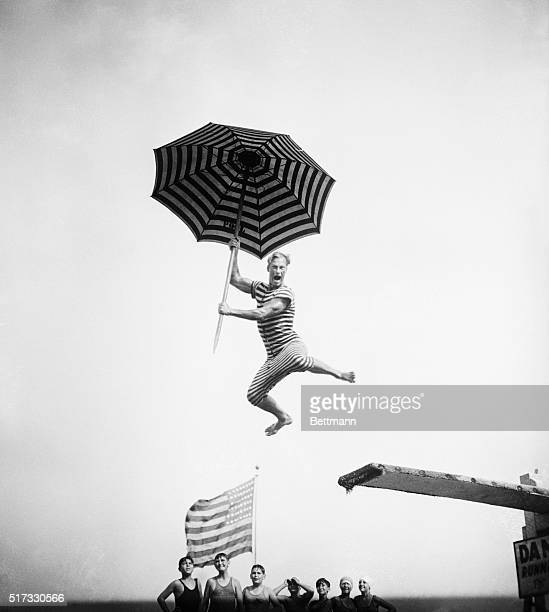 Here's Harold Kruger who was a member of the Olympic Swimming team in 1924 doing some comic diving stunts at the Olympic Pool in Long Beach NY