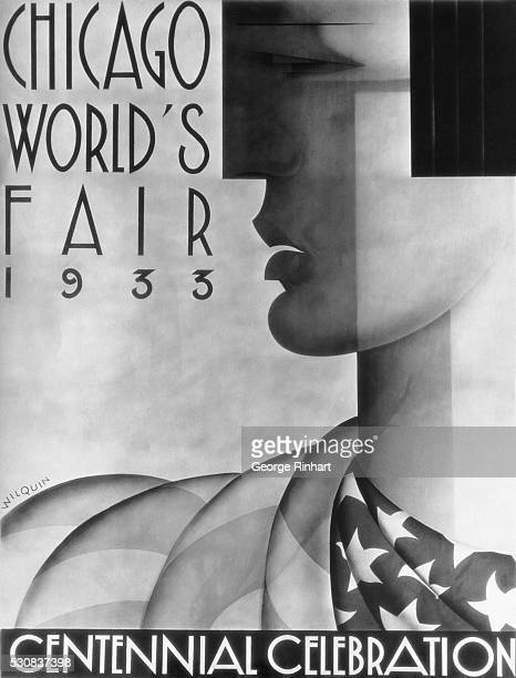 1928Chicago IL The fourth prize in the World's Fair poster contest was awarded to Andre Wilquin widely known artist of MalakoffSeine France THe prize...