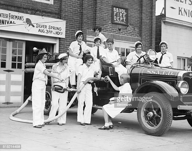 1928Silver Spring Maryland Volunteer firewomen brigade of Silver Spring MD 1928