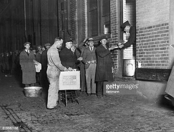 Handing out bread and soup to the hungry in Detroit Photograph 1930