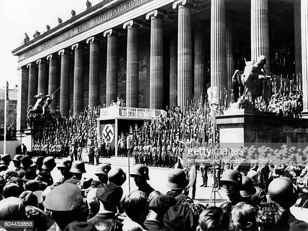 1930s 1936 NAZI RALLY.