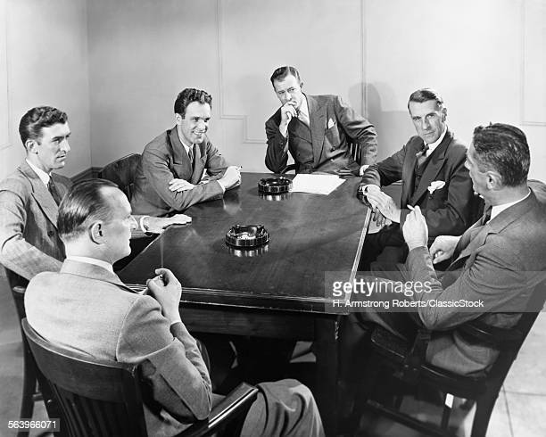 1930s 1940s 6 BUSINESSMEN...