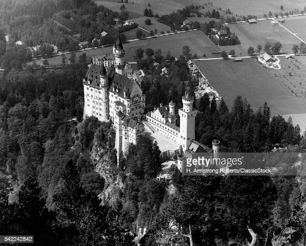 1930s 1940s AERIAL OF...