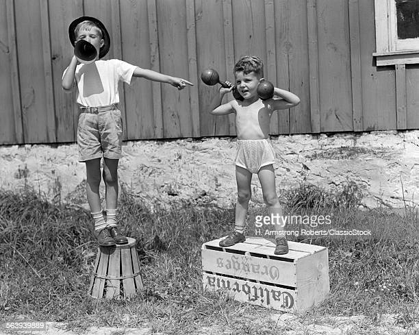 1930s 1940s BOYS PLAYING...