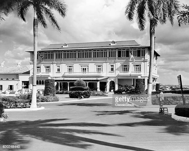 1930s 1940s ENTRANCE TO AMERICANCUBAN JOCKEY CLUB HAVANA CUBA