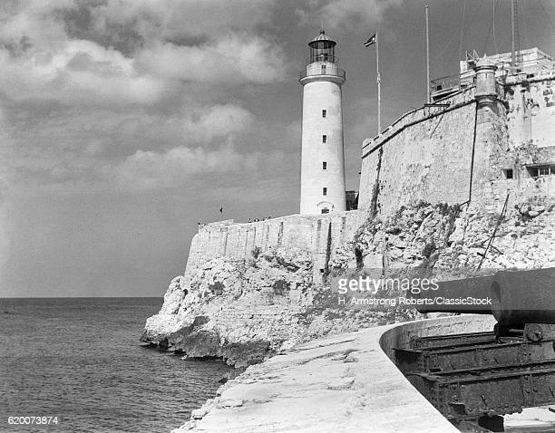 1930s 1940s LIGHTHOUSE AT...
