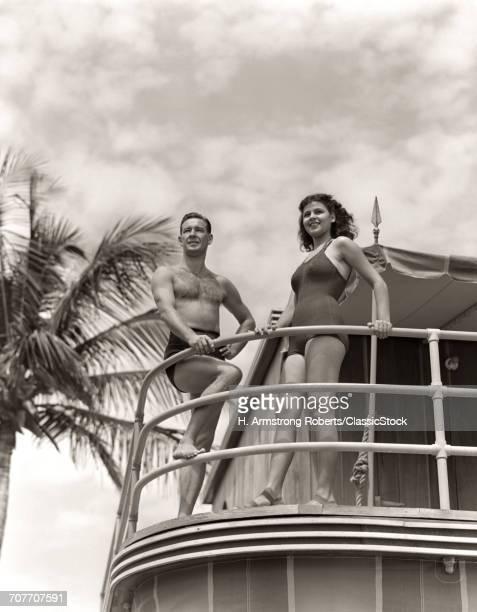 1930s 1940s MAN WOMAN...