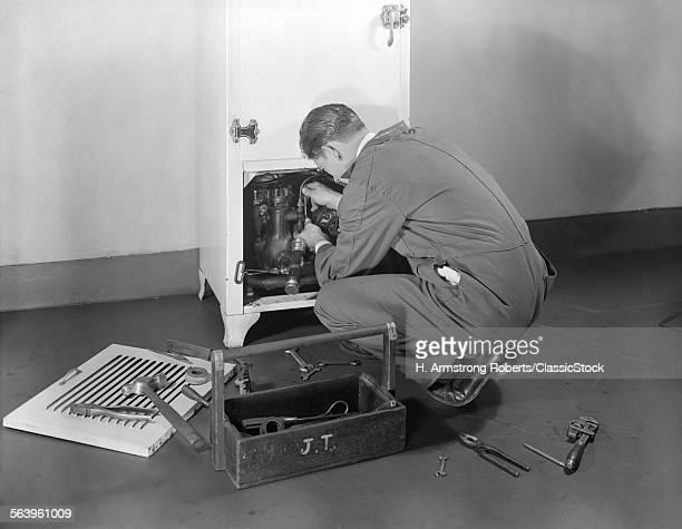 1930s 1940s MAN WORKMAN...