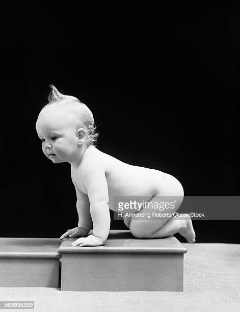1930s 1940s NAKED BABY...