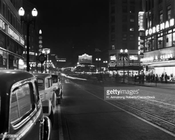 1930s 1940s NIGHT NEON...